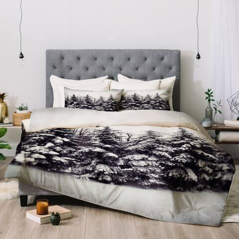 Deny Designs Snow Tree 3-Piece Comforter Set