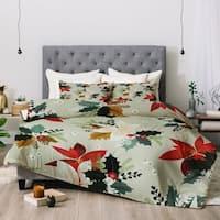 Deny Designs Holiday Floral 3-Piece Comforter Set