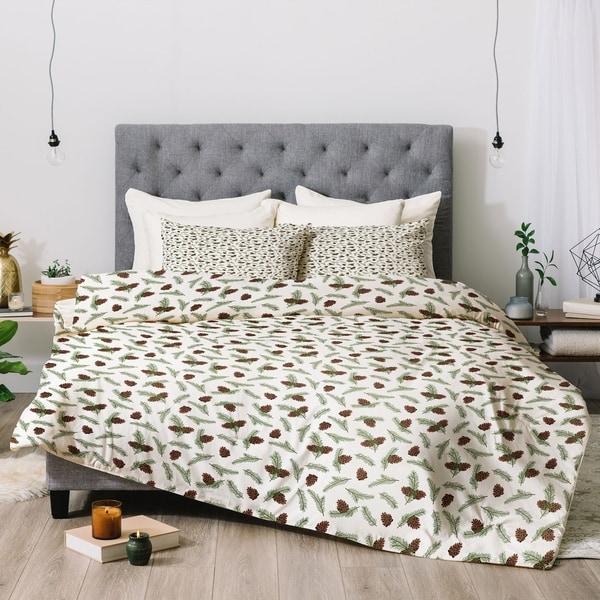 Deny Designs Pinecones 3-Piece Comforter Set. Opens flyout.