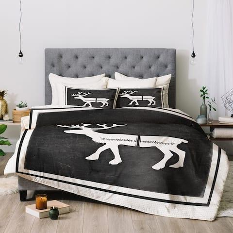 Deny Designs Reindeer 3-Piece Comforter Set