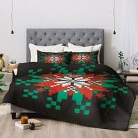 Deny Designs Snowflake 3-Piece Comforter Set