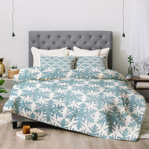 Deny Designs Blue Snow 3-Piece Comforter Set