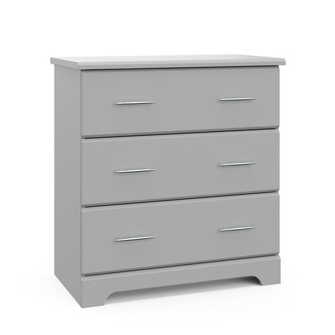Storkcraft Brookside 3 Drawer Chest - Durable, Modern, and Stylish Storage Solution with 3 Spacious Drawers
