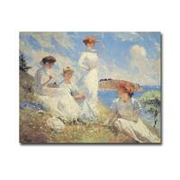 Summer by Frank Weston Benson Gallery Wrapped Canvas Giclee Art (12 in x 16 in, Ready to Hang)