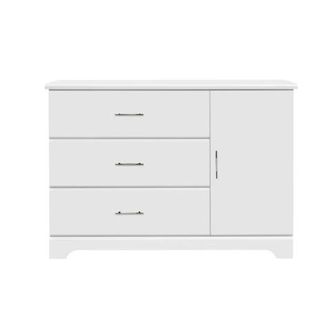 Storkcraft Brookside 3 Drawer Combo Dresser - 3 Spacious Drawers, Cabinet with 2 Concealed Shelves
