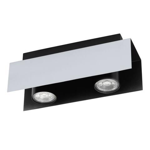 Eglo USA Viserba 2-Light Track Light with Aluminum and Black Finish