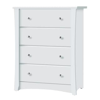 Link to Storkcraft Crescent 4 Drawer Chest - Durable, Stylish, and Elegant Storage Solution with 4 Spacious Drawers Similar Items in Kids' Dressers