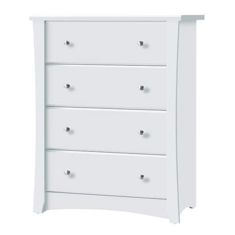 Storkcraft Crescent 4 Drawer Chest - Durable, Stylish, and Elegant Storage Solution with 4 Spacious Drawers