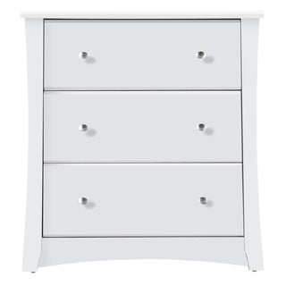 Storkcraft Crescent 3 Drawer Chest - Durable, Stylish, and Elegant Storage Solution with 3 Spacious Drawers