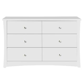 Storkcraft Crescent 6 Drawer Chest - Durable, Stylish, and Elegant Storage Solution with 6 Spacious Drawers