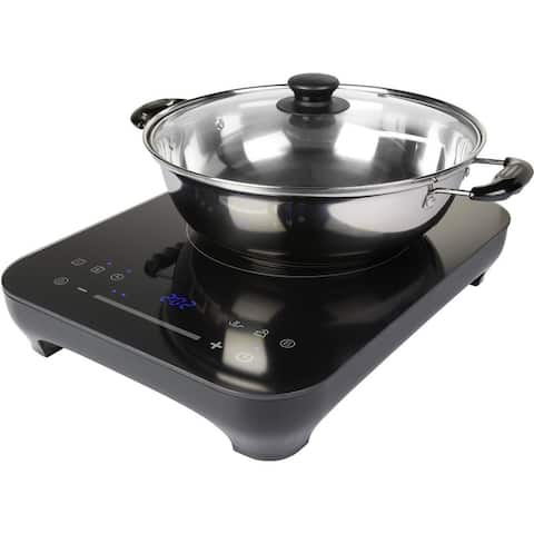 "Midea Induction Portable Cooktop with 9"" Saute pan and Glass lid"