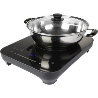 """Midea Induction Portable Cooktop with 9"""" Saute pan and Glass lid"""