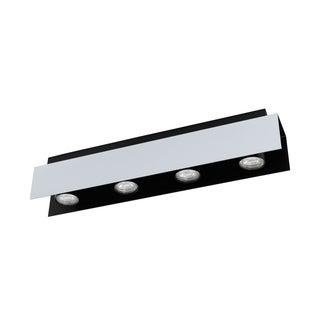 Eglo USA Viserba 4-Light Track Light with Aluminum and Black Finish