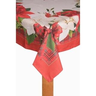 Poinsettia Tartan Tablecloth