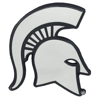 "FANMATS Michigan State University 3D Chromed Metal Emblem 2.1""x3.2"""