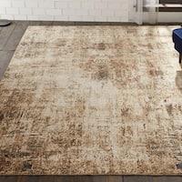 Porch & Den Delta Distressed Sand Tones Abstract Area Rug