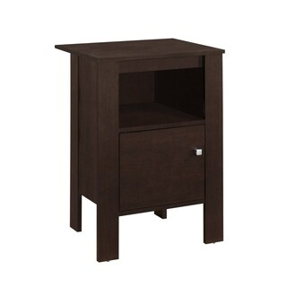 Accent Table - Cappuccino Night Stand With Storage