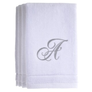 Monogrammed White Fingertip Towels Set of 4
