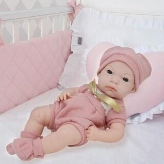 16 Inch Newborn Baby Doll Vinyl Body Realistic Features Bonus Clothing