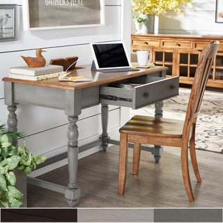 Link to The Gray Barn Sunny Banks Antique 1-drawer Desk with Charging Station Similar Items in Desks & Computer Tables