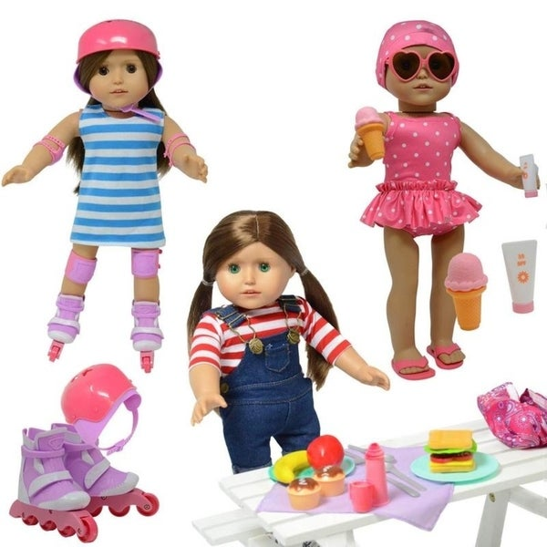 73c330fbc5a6 Shop Doll Roller Skates -18 inch Doll Clothes - fits American Girl ...