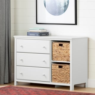 South Shore Cotton Candy 3-Drawer Dresser with Baskets