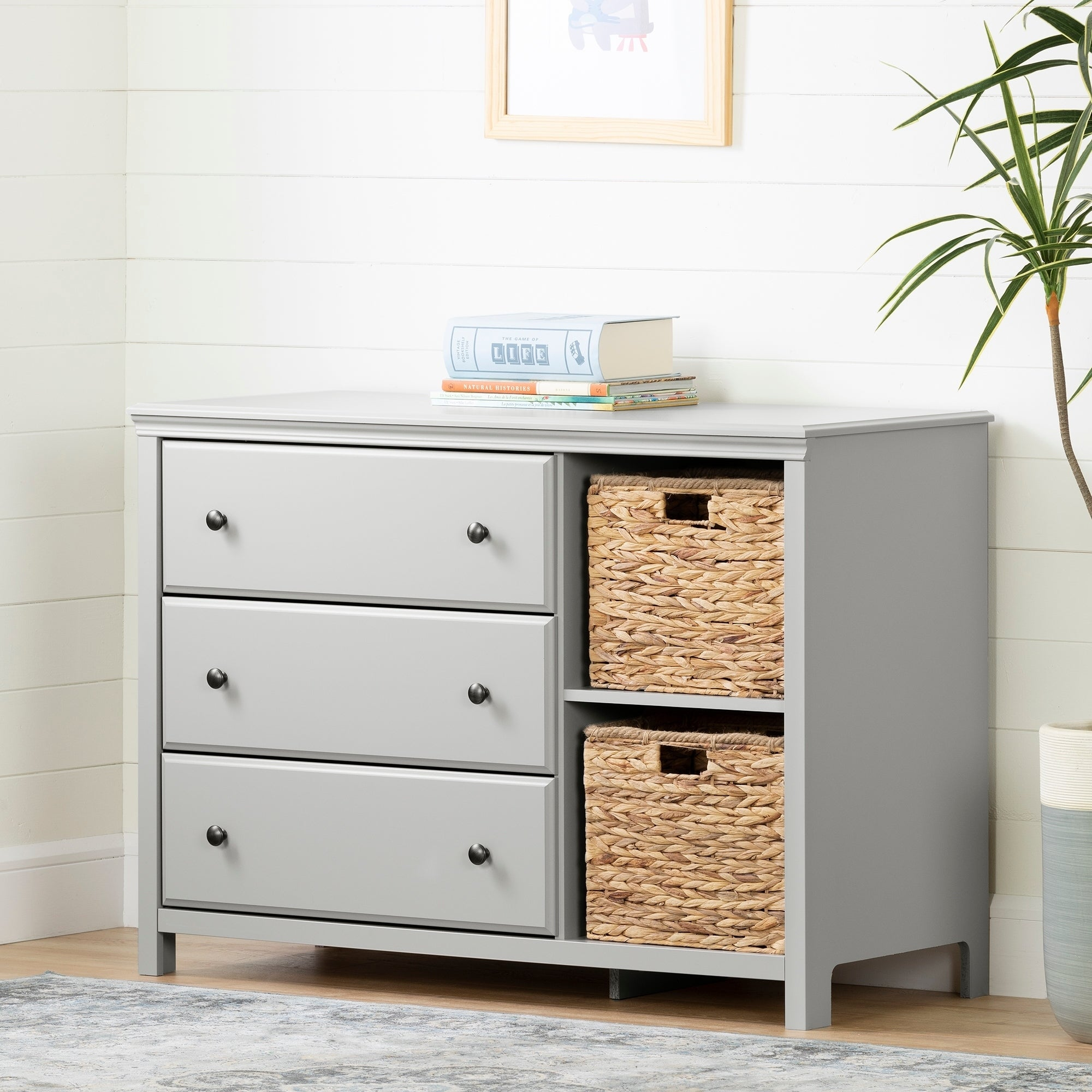 South S Cotton Candy 3 Drawer Dresser With Baskets