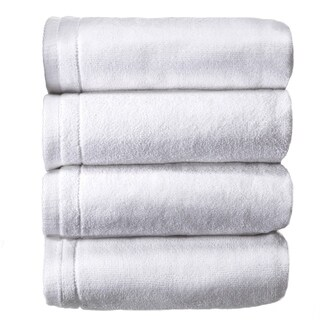 Creative Scents White Cotton Hand Towel Set, 4 Pack