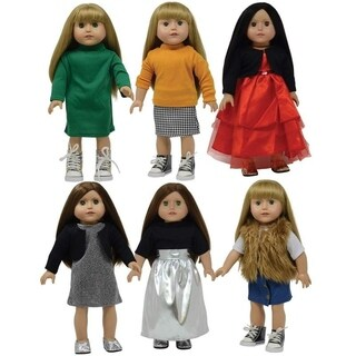 18 Inch Fashion Doll Clothes Set of 11 pc for American Girl Doll Clothing