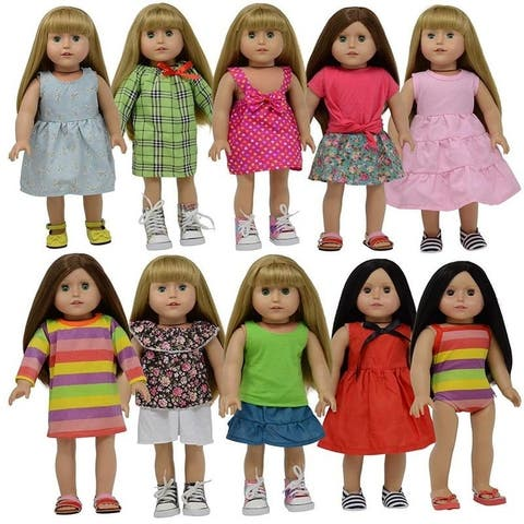 18 Inch Doll Clothes Summer Set of 13 pc