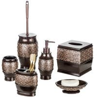 Dublin 6-Piece Bathroom Accessories Set (Brown)