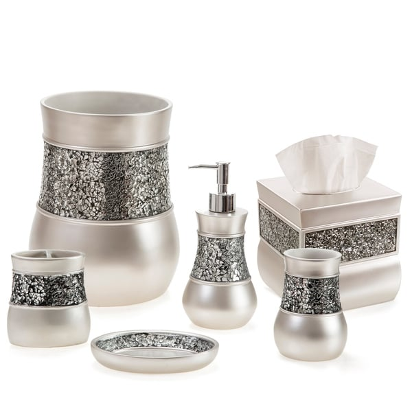 Brushed Nickle 6-Piece Bathroom Accessories Set (Brown)