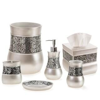 Brushed Nickle 6-Piece Bathroom Accessories Set (Brown)
