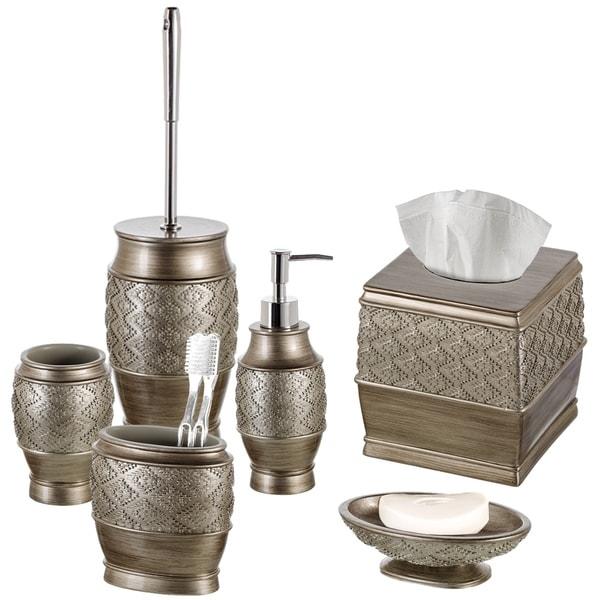 Dublin 6-Piece Bathroom Accessories Set (Brushed Silver)