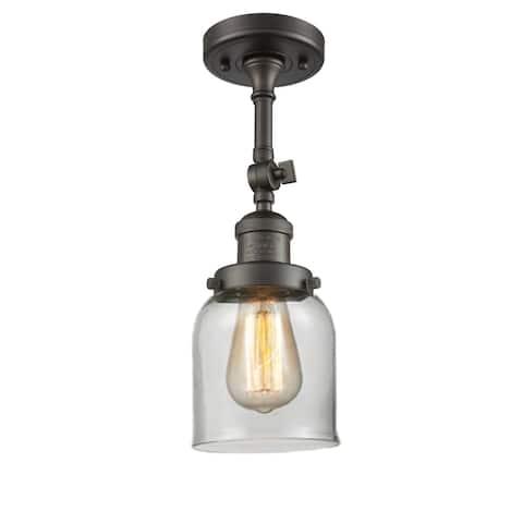 Innovations Lighting Small Bell 1 Light Adjustable Dimmable Vintage Incandescent Flushmount