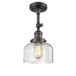 Innovations Lighting Large Bell 1 Light Adjustable Dimmable Vintage Incandescent Flushmount