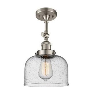 Innovations Lighting Large Bell 1 Light Adjustable Dimmable Vintage LED Flushmount