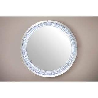 Best Quality Furniture Round Crystal LED Light Wall Mirror