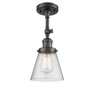 Innovations Lighting Small Cone 1 Light Adjustable Dimmable Vintage LED Flushmount