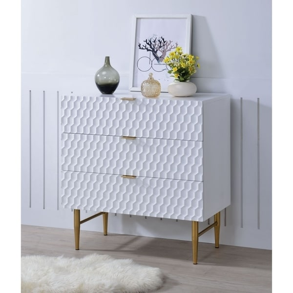 Shop Wooden Dresser With Raised Honeycomb Pattern Drawer
