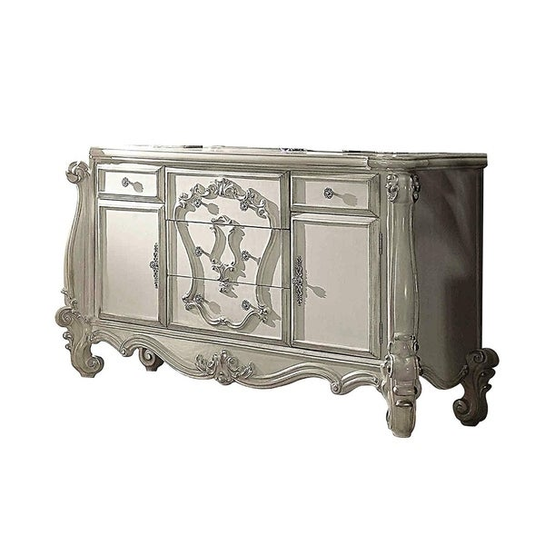 Shop Five Spacious Drawers Wooden Dresser With Carved
