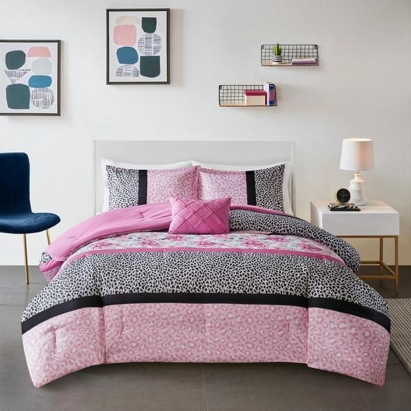 Mi Zone Riley Pink Printed Comforter Set