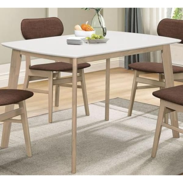 Shop Rectangular Wooden Dining Table With Splayed Legs
