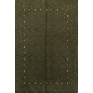 """Carson Carrington Dolpan Hand Knotted Woolen Tribal Solid Area Rug - 9'9"""" x 6'8"""""""