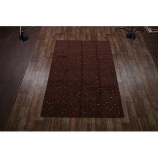 "Gabbeh Indian Oriental Area Rug Wool Hand Knotted Tribal - 9'11"" x 6'6"""