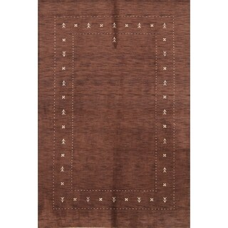 "Porch & Den Sandra Handmade Wool Contemporary Gabbeh Area Rug - 9'9"" x 6'9"""