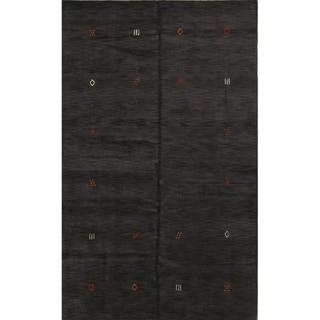 "Porch & Den Benburb Charcoal Hand-made Wool Oriental Area Rug - 7'0"" x 10'0"""
