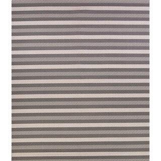 "Contemporary Striped Belgium Oriental Indoor / Outdoor Area Rug - 9'1"" x 12'0"""