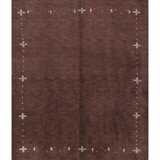 """Porch & Den San Marcos Handmade Wool Contemporary Gabbeh Area Rug - 8'0"""" x 10'0"""""""