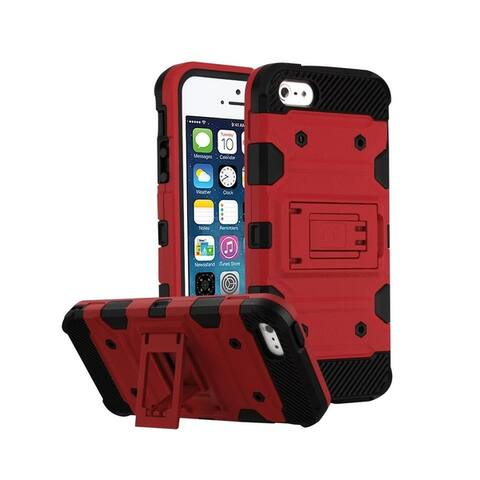Insten Storm Tank Dual Layer Hybrid Stand PC/TPU Rubber Case Cover for Apple iPhone